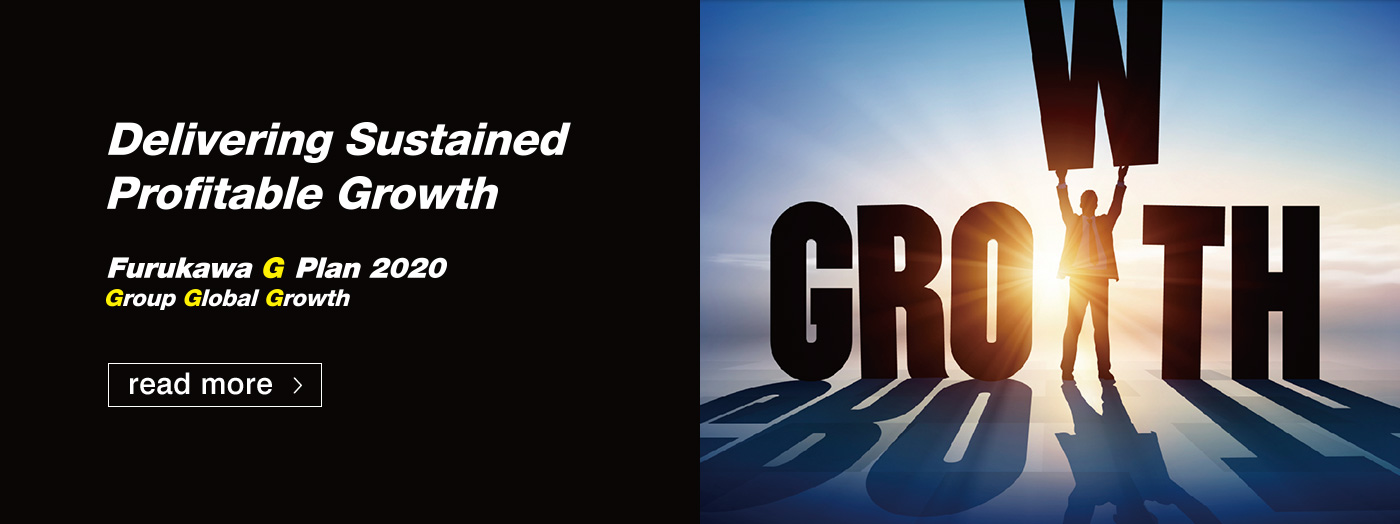 Delivering Sustained Profitable Growth  Furukawa G Plan 2020  Group Global Growth