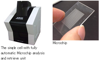 The single cell with fully automatic Microchip analysis and retrieve unit,Microchip